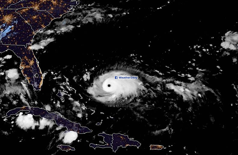 Hurricane dorian category 4 satellite image